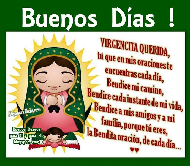 VIRGENCITA QUERIDA, tú que en mis oraciones  te encuentras cada día, bendice mi camino...