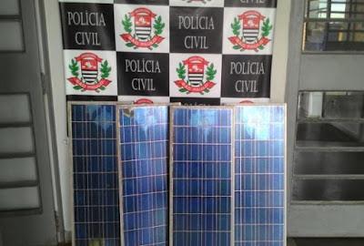 POLÍCIA CIVIL RECUPERA PLACAS DE ENERGIA SOLAR FURTADAS DA FUNDAÇÃO FLORESTAL