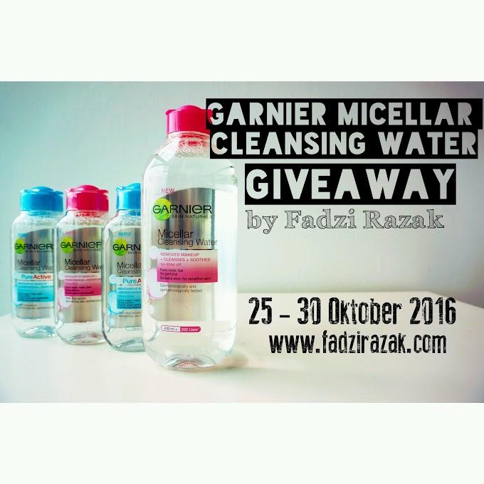 Pemenang Giveaway Garnier Micellar Cleansing Water by Fadzi Razak