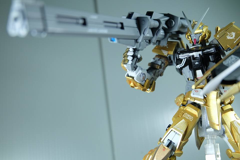"Custom Build: MG 1/100 ""Prototype Akatsuki"" Gundam Astray Gold Frame"