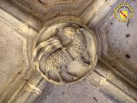 Toul - Cathédrale Saint-Etienne : Clef de voûte du cloître