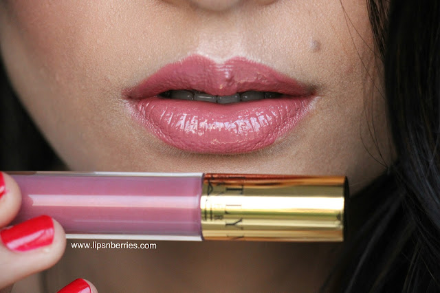 MAC Tolerance lip glass on indian skin