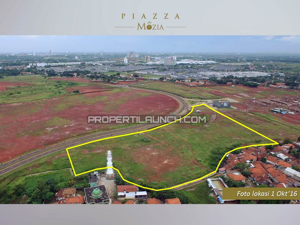Lokasi Aktual Piazza The Mozia BSD