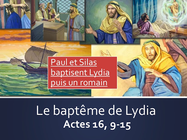 Paul et Silas baptisent Lydia