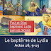 Sketch; BD diaporama : Paul et Silas baptisent Lydia