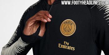 cfb25b58a Nike Paris Saint-Germain 18-19 Away Kit Jackets Leaked