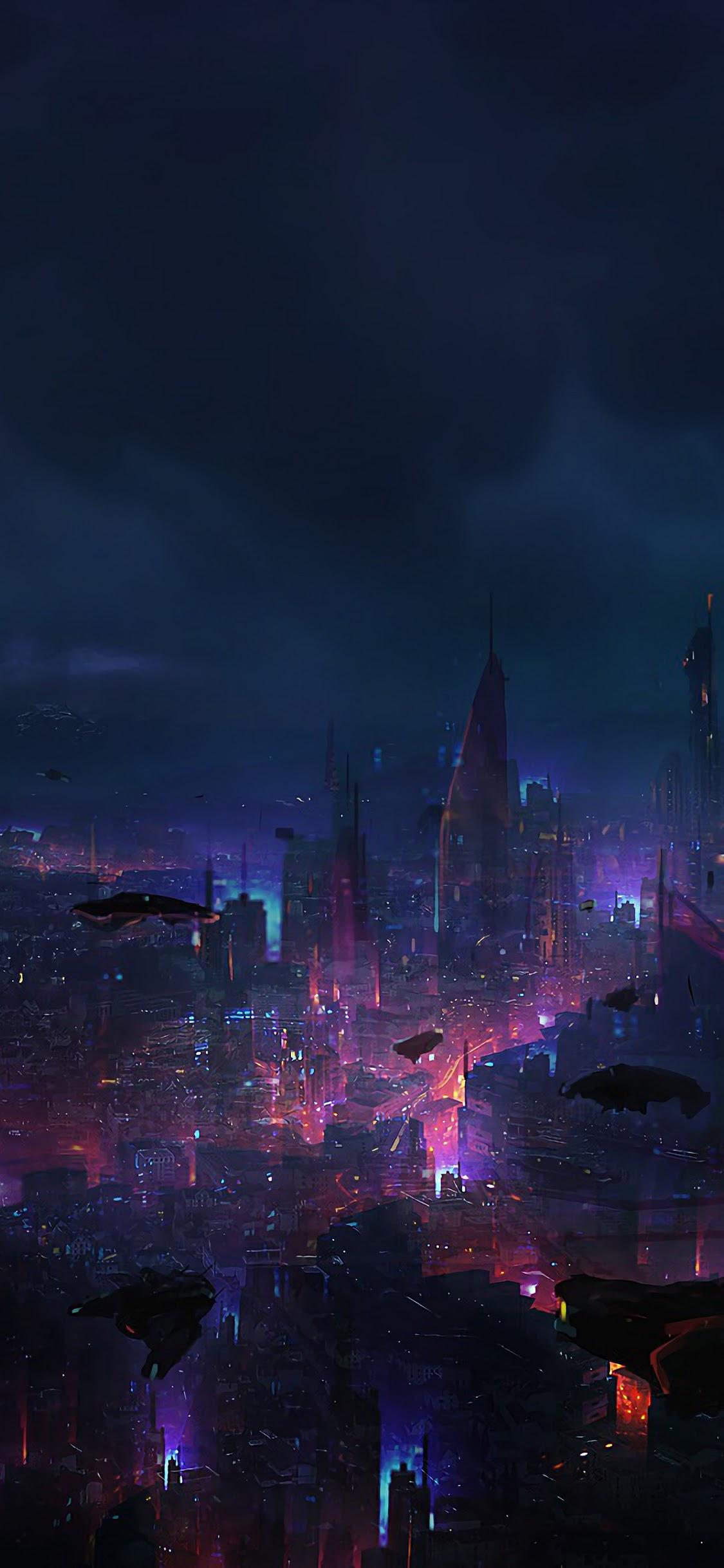 Cyberpunk City Night Scenery Sci Fi 4k Wallpaper 94