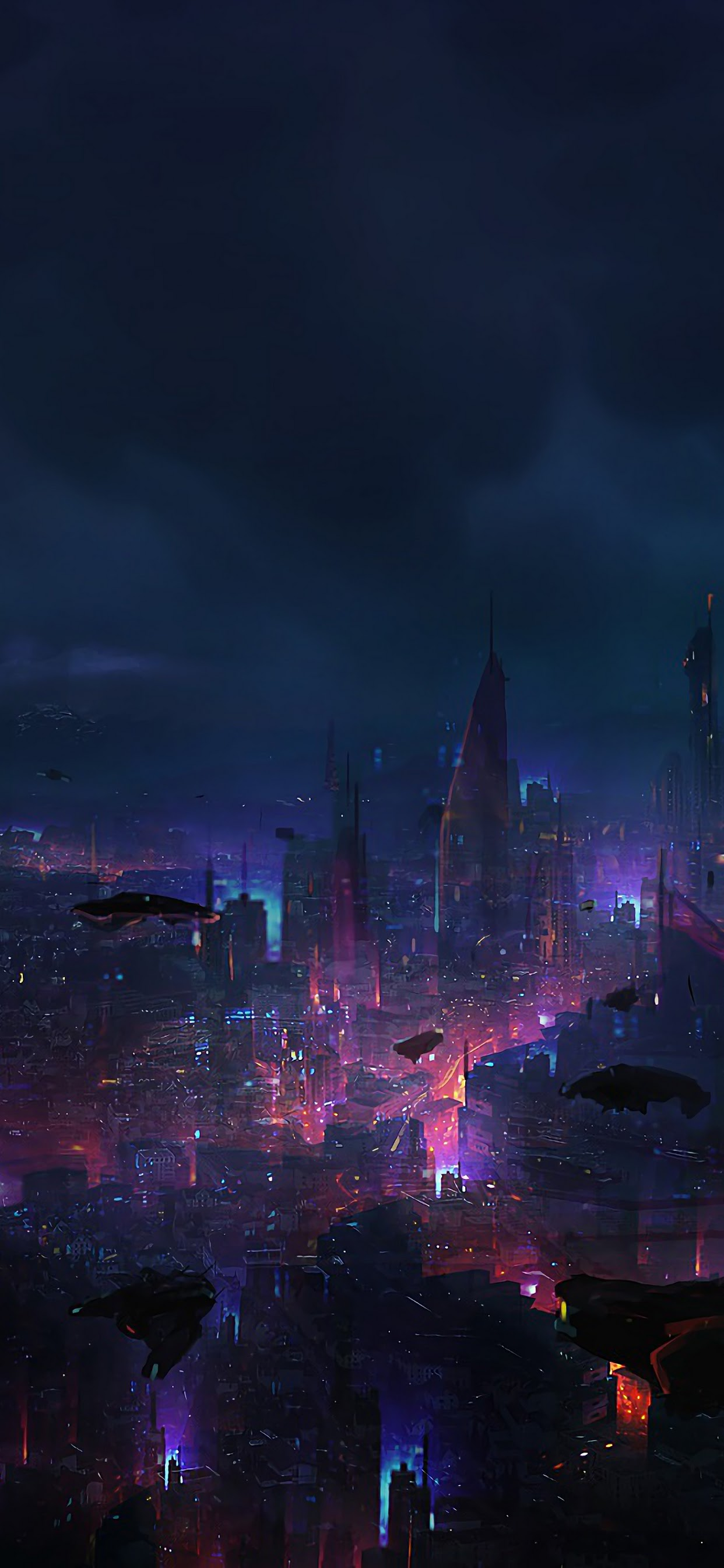 Cyberpunk City Night Scenery Sci Fi 4k Wallpaper 94