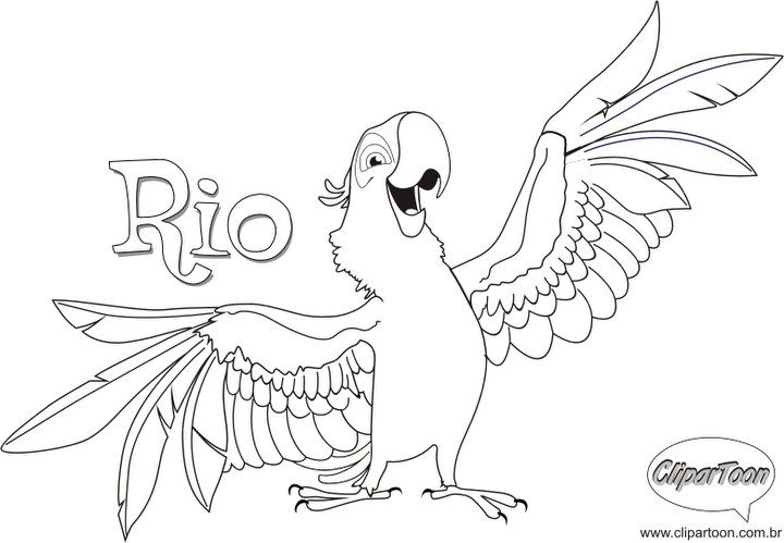 Desenhos Do Filme Rio Da Arara Azul E Seus Amigos Para Colorir