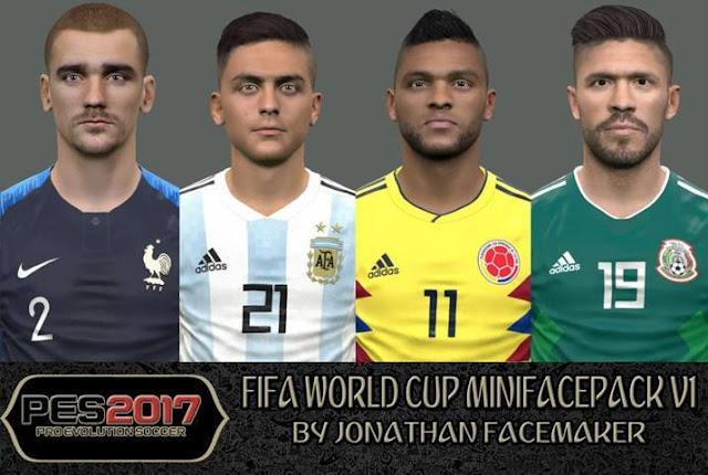 FIFA World Cup 2018 Mini Facepack PES 2017