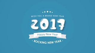 Rocking new year 2017 background