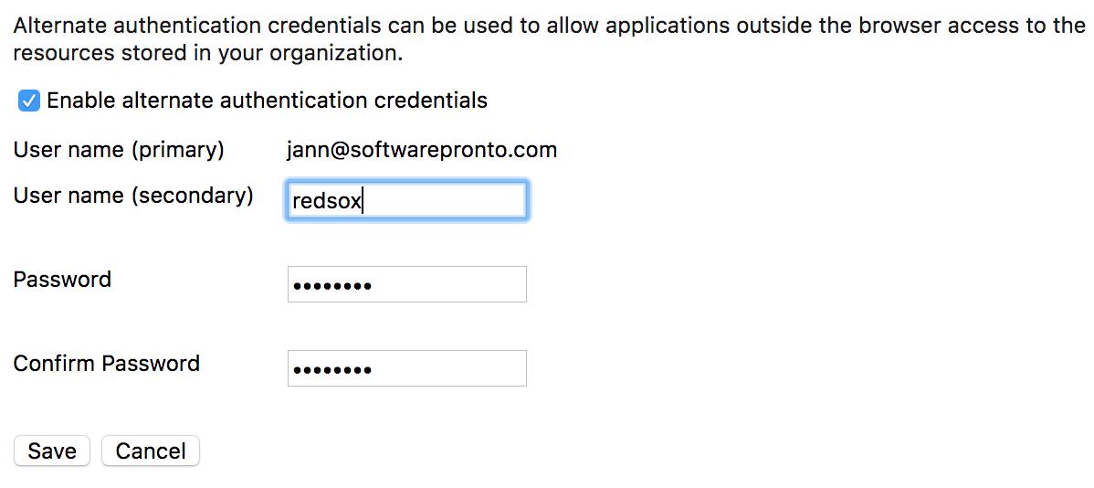 Git: Alternate Credentials in Azure DevOps