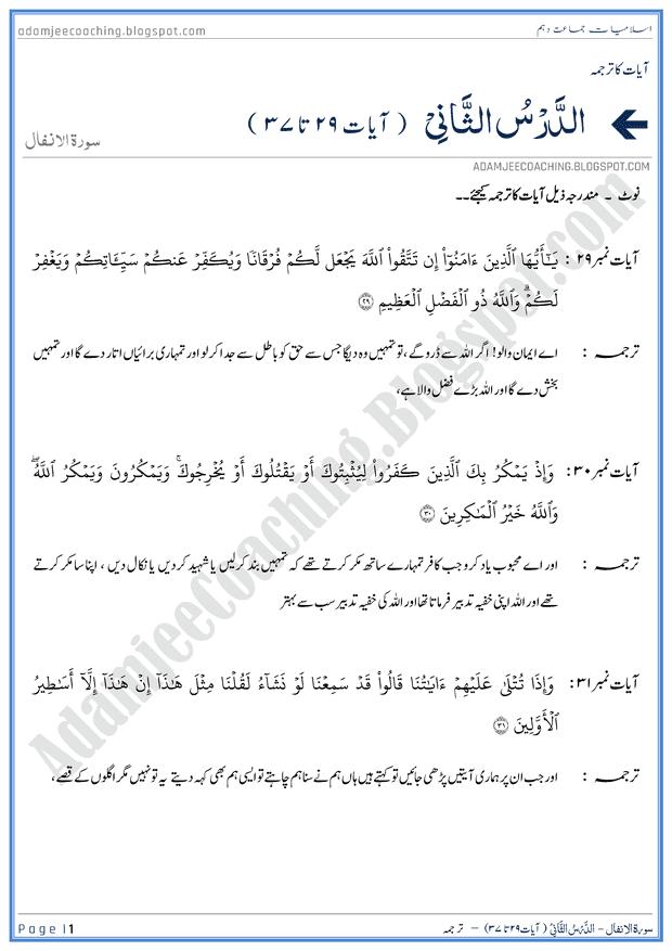 surah-al-anfal-ayat-29-to-37-ayat-ka-tarjuma-islamiat-10th