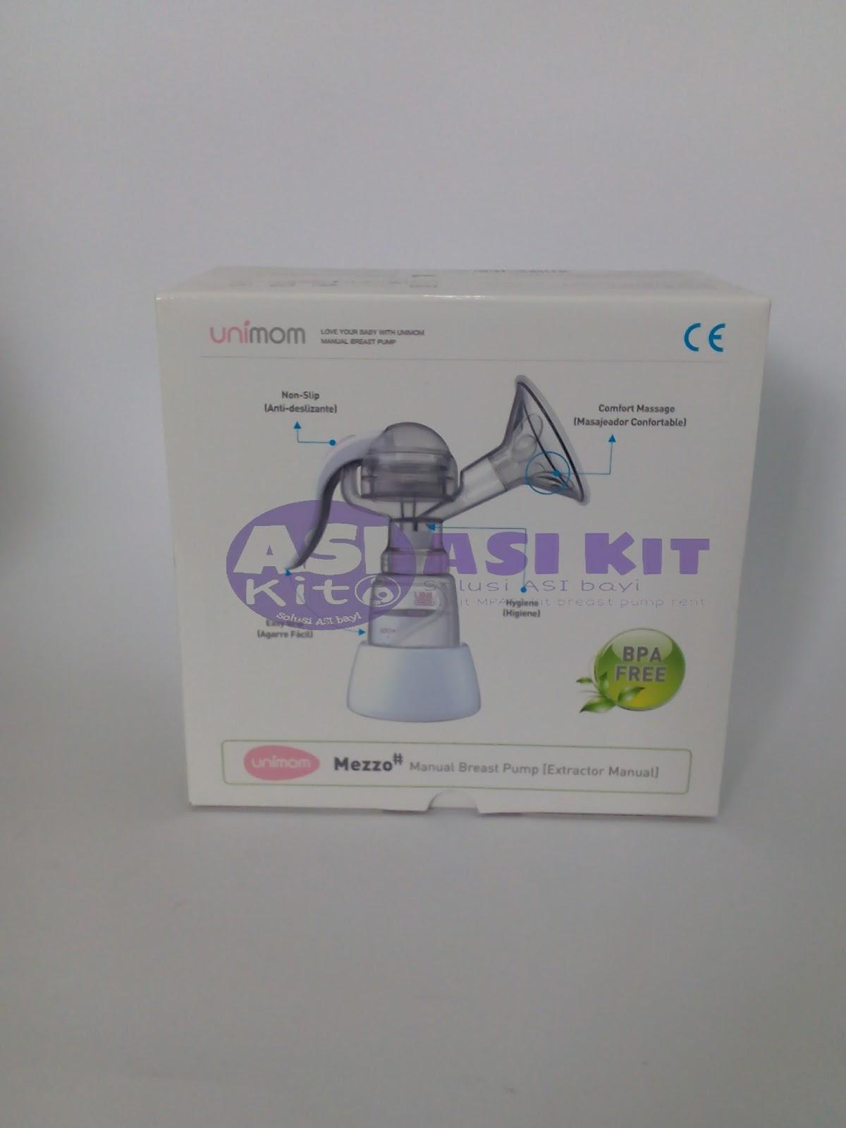 Pompa Asi Solo Breast Pump Manual Little Giant Emily 1 Pcs Badan 2 Tuas 3 Diafragma 4 Botol 5 Valve 6 Cover Free Kantong Thermal Sensor