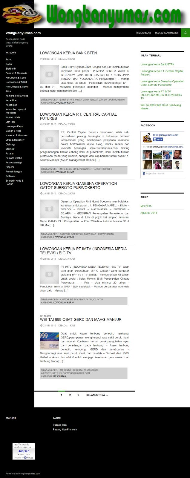 download wp iklanbaris tema iklan baris untuk wordpress
