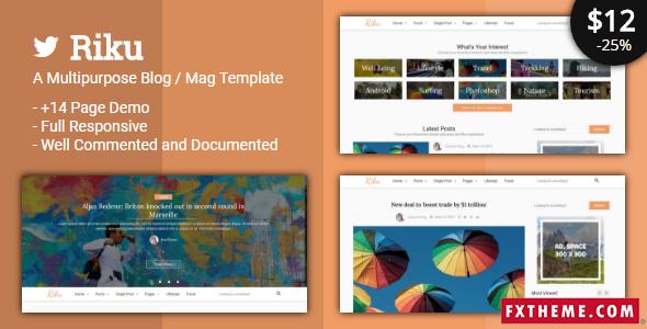 Micah Jared Riku - Multipurpose Blog / Magazine Template