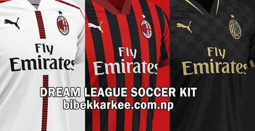 AC Milan 2019-2020 Dream League Soccer Kit  and Logo– Serie A