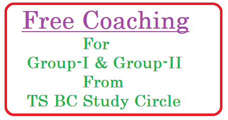 TSBC Study Circle Free Coachin for Groip-I and Group-II telangana-bc-study-circle-free-coaching-tsbcstudycircles.cgg.gov.in