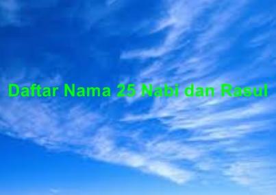 25 Nama Nabi dan Rasul