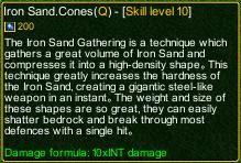 naruto castle defense 6.0 Sasori Iron Sand.Cones detail