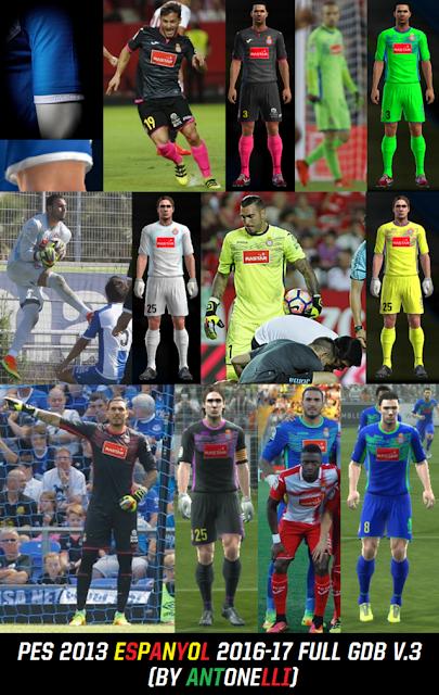 PES 2013 Espanyol Kit Season 2016-2017