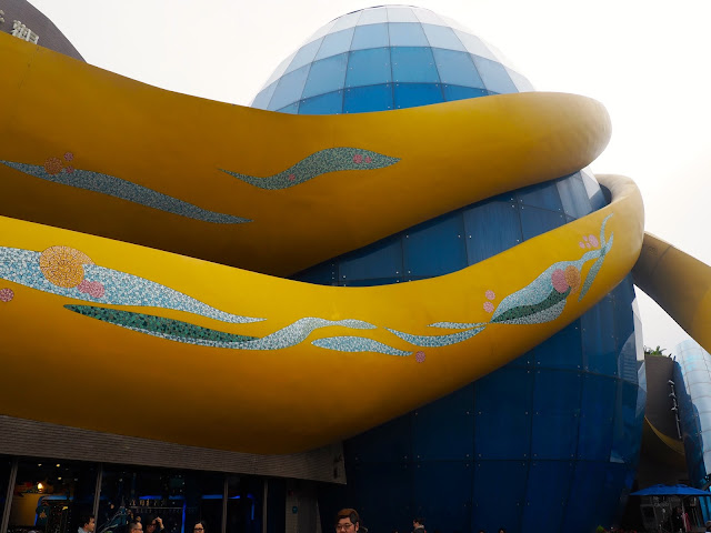 Exterior of the Grand Aquarium, Ocean Park, Hong Kong