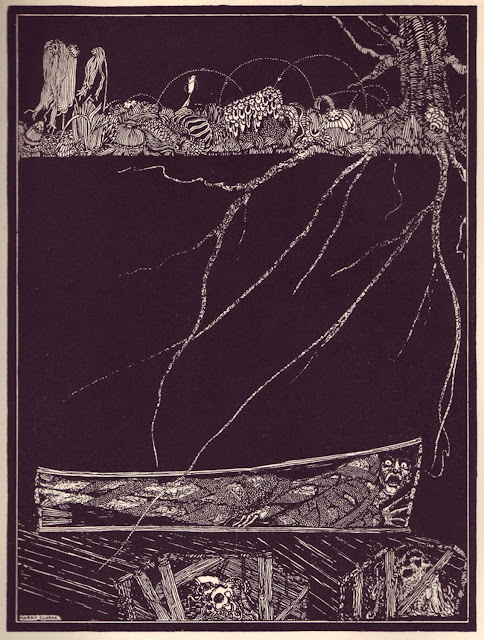 "The Premature Burial (Harry Clarke, 1919 - serie ""E.A.Poe's Tales of Mystery and Imagination"")"