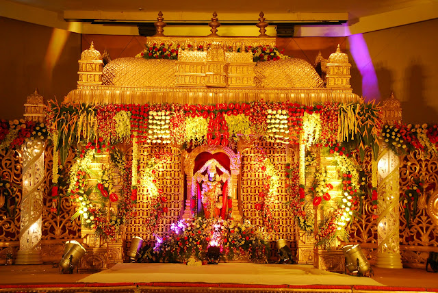 Wedding stage decoration background images psdlab92 for Background decoration for indian wedding
