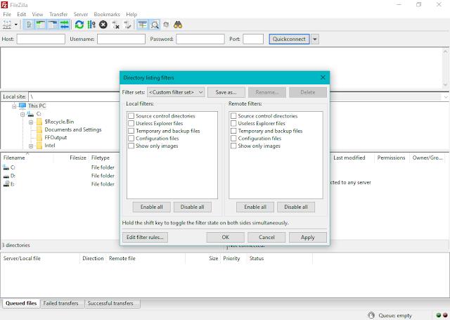 تحميل برنامج FileZilla لنقل الملفات عبر بروتكول نقل الملفات (FTP)