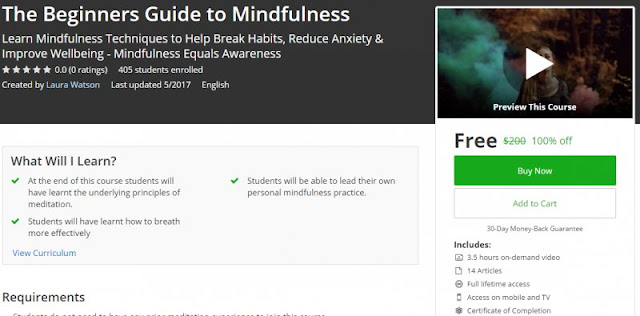 [100% Off] The Beginners Guide to Mindfulness| Worth 200$