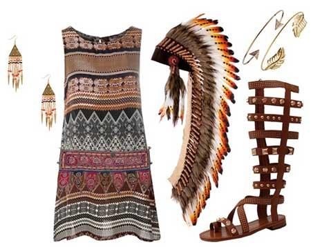 disfraz casero de indio con patrones