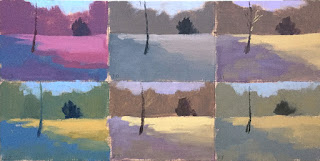 color studies in two colors - 3 Apr 17 2019