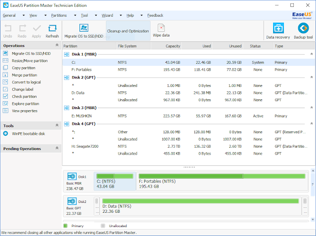 EaseUS Partition Master 12.10 Technician Edition