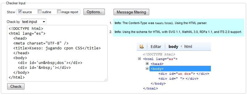 atributo id con entidad html