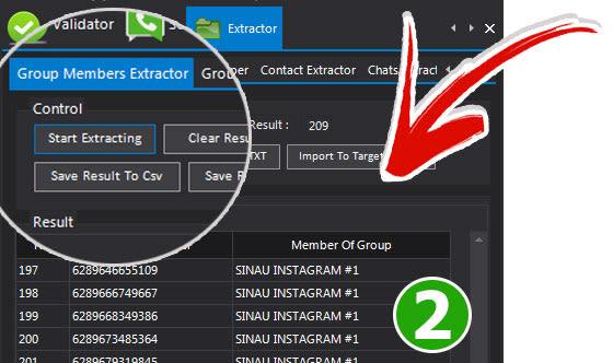 Ambil data Grup Menggunakan  Fitur Group Member Extractor - WASenderPro: Sofware Promosi yang Wajib Dimiliki Semua Internet Marketer