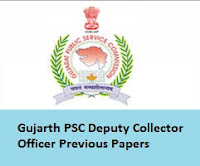 Gujarat PSC Deputy Collector Officer Previous Papers