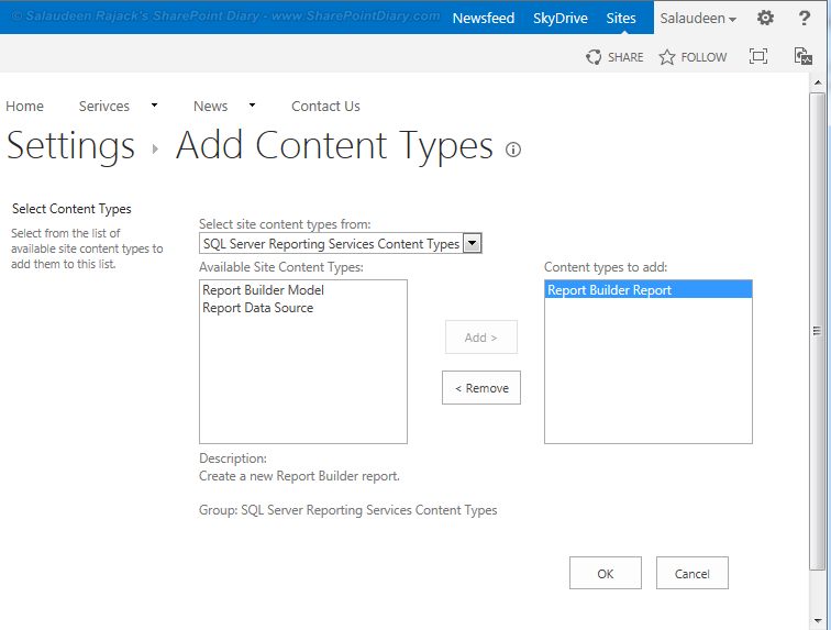 Create SSRS Report from SharePoint 2013 List using Report Builder 3.0