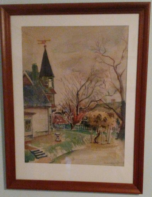 Artist Francis J. Quirk,  Watercolor early spring, Francis Quirk, Pennsylvania