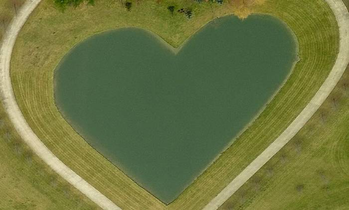 Pond in the Columbia Hills Corners, Ohio, USA