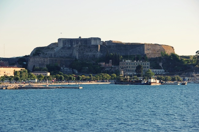 Corfu fortress sea view