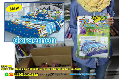Sprei Fata Queen B2 160x200 Doraemon Karakter Kartun Anak