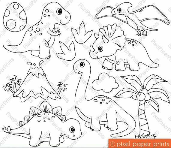 Desenhos De Dinossauros Para Colorir Como Fazer
