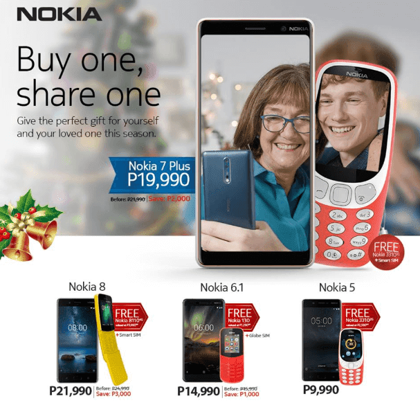 Nokia offers Buy One Get One Christmas Promo for select smartphones