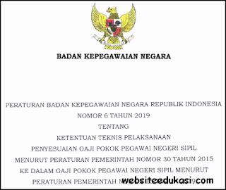 Peraturan BKN Nomor 6 Tahun 2019 tentang Penyesuaian Gaji Pokok PNS
