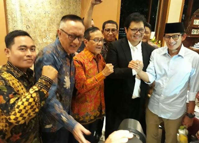'Kemesraan' Para Petinggi Golkar Dengan Sandi, Tanda Prabowo-Sandi Bakal Menang Pilpres 2019?