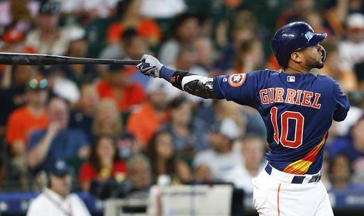El Yuli Gurriel, primera base de los Astros de Houston, apenas ha dado 11 incogibles en sus 14 más recientes compromisos, periodo en el que batea para .208, con tres biangulares y un cuadrangular.