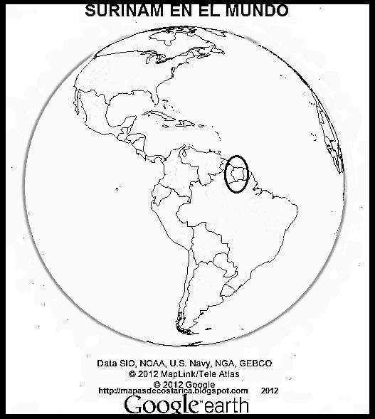 Mapa En Blanco De Costa Rica