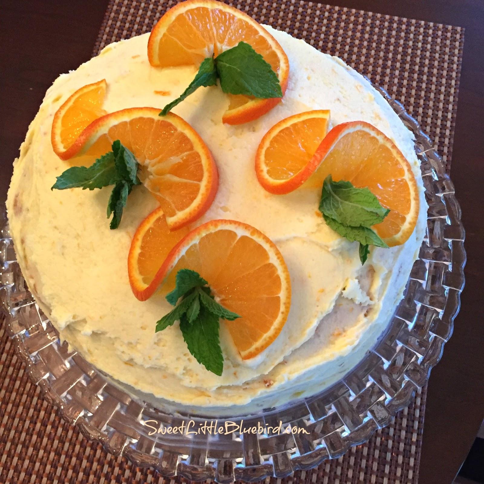 Orange Layer Cake - Sweet Little Bluebird