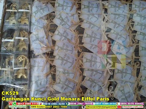 jual Gantungan Kunci Gold Menara Eiffel Paris