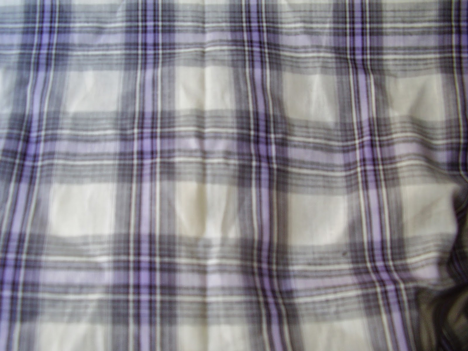 White, grey and purple paid shirting-weight cotton.